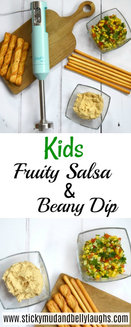 if you are looking for some quick, tasty and healthy kids snacks then why not try  this fruity salsa and beany dip? Perfect for party snacks too!