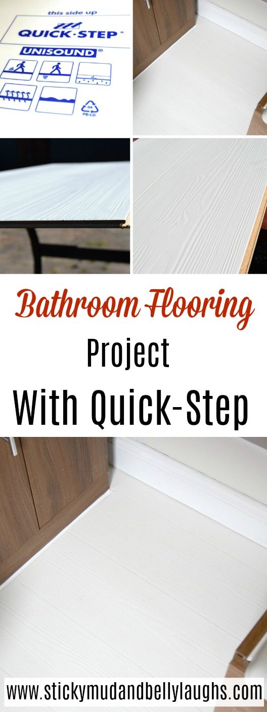 We have recently finished our bathroom flooring project with a little help from Quick-Step. It looks amazing! #woodenflooring #interiors #bathroomflooring #DIY #renovation #bathroommakeover