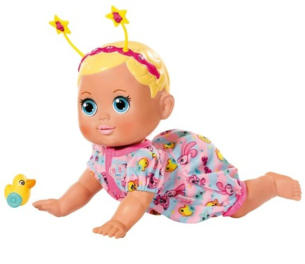 BABY born® Funny Faces Crawling Baby doll with toy duck