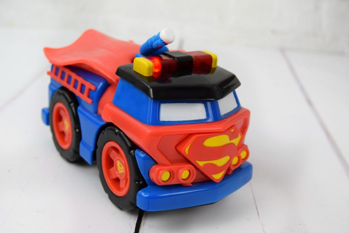Herodrive Mash Machines toy firetruck Superman themed.
