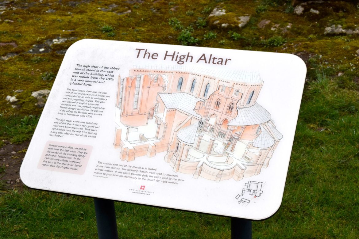 The high altar visitor board