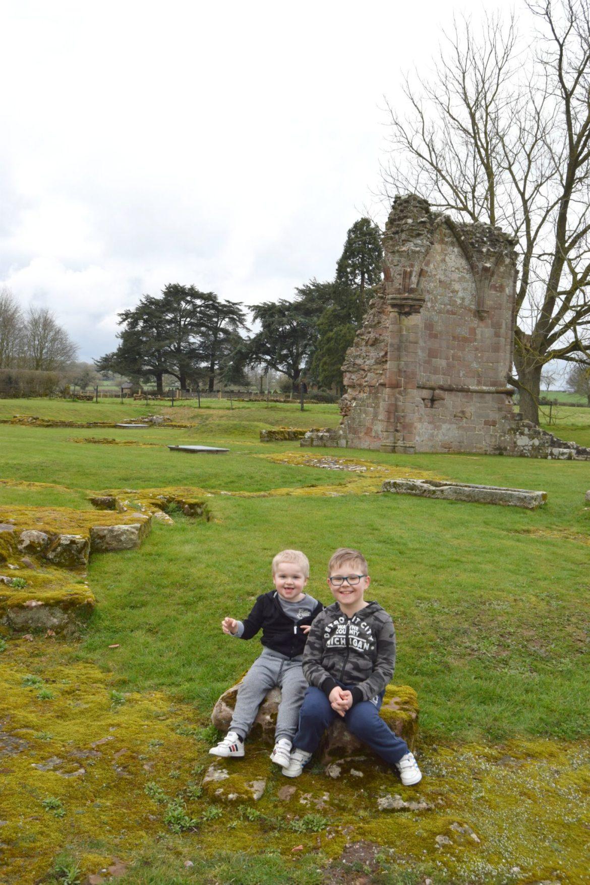 Sitting enjoying the view of Croxdon Abbey
