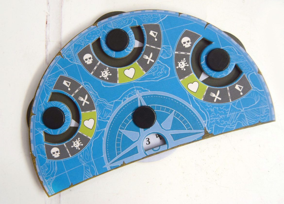 The cardboard score card dial from Discover Lands Unknown game.
