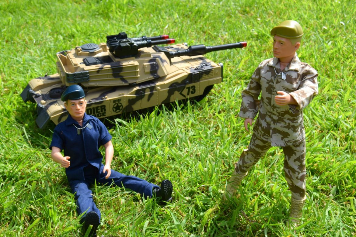 Action Man toys. Soldier and Sailor figures