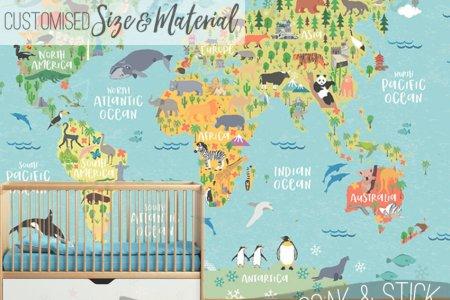 World Map Wallpaper Kids Full HD MAPS Locations Another World - Explorer kids world map mural