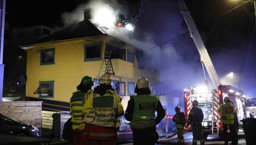Brann i 4 manns bolig i Bergen