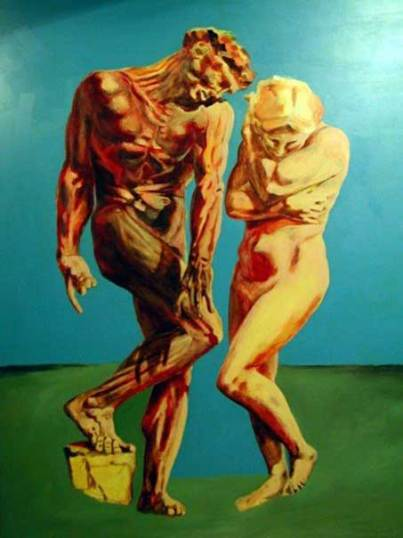 ADAM & EVE, oil acrylic on canvas, 260 x 180 cm