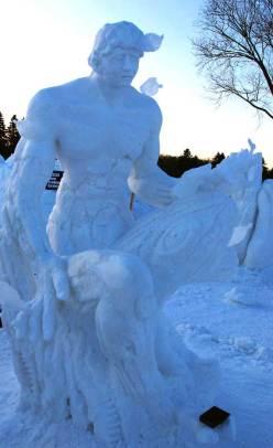 Wilfred Stijger & Edith Van de Wetering ice snow sculpture