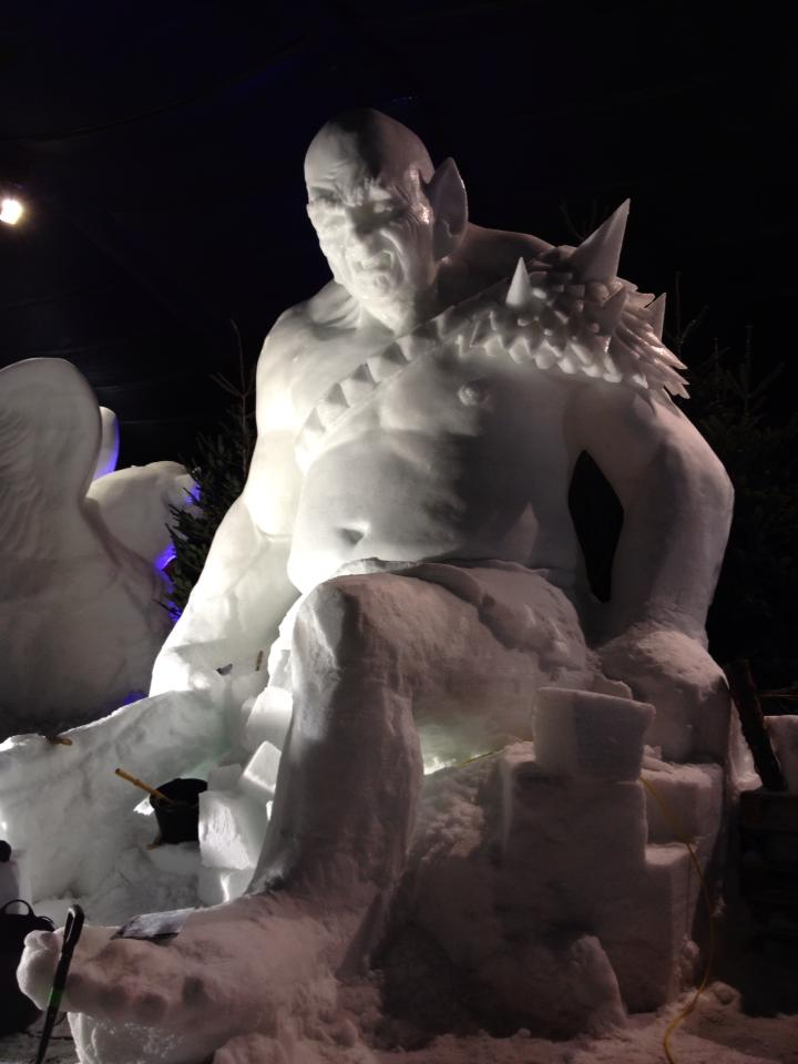 Wilfred Stijger & Edith Van de Wetering ice snow sculptue