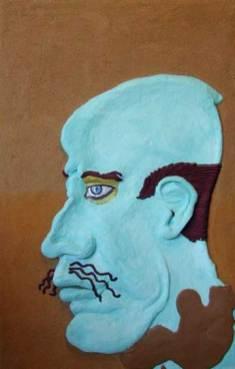 BLUE EYES, oil acrylic on canvas, 260 x 180 cm