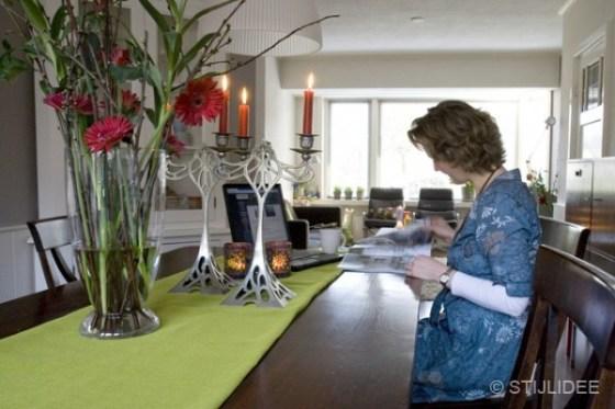 Eettafel in koloniaal teak | STIJLIDEE Interieuradvies en Styling
