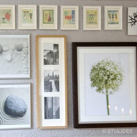 styling met foto's en lijsten na STIJLIDEE Interieuradvies en Styling