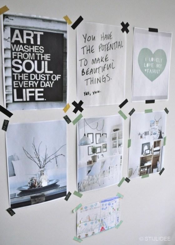 DIY Quotes met masking tape na STIJLIDEE Interieuradvies en Styling