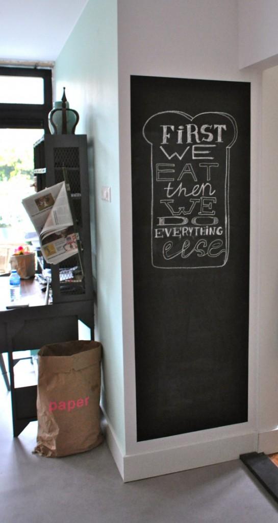 DIY Quotes op schoolbordverf na STIJLIDEE Interieuradvies en Styling