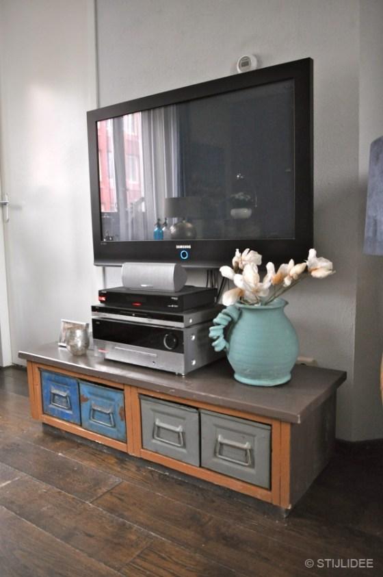 tv meubel in woonkamer Vleuten na STIJLIDEE interieuradvies