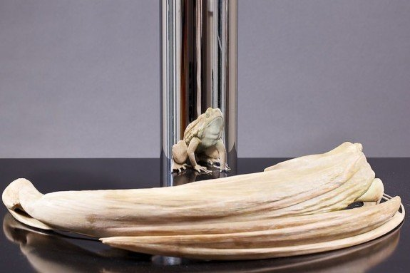 Stijlmagazine-kunst-art-Jonty Hurwitz- Frogs are endangered