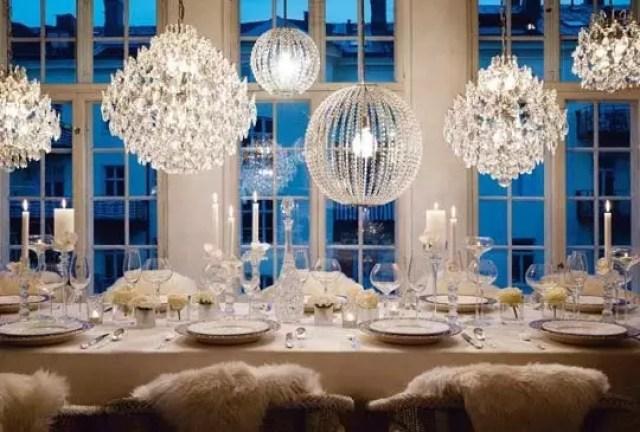 Feest styling winter feest en bruiloft decoratie in wintersfeer