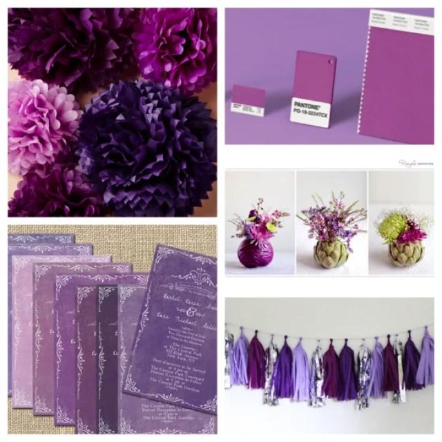 Feest styling | Inspirerende ideeën voor een 'Radiant Orchid' thema bruiloft!
