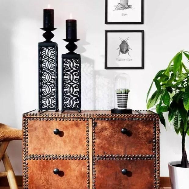 Interieur | Stoere materialen mix van koper, hout, staal, leer en textiel.
