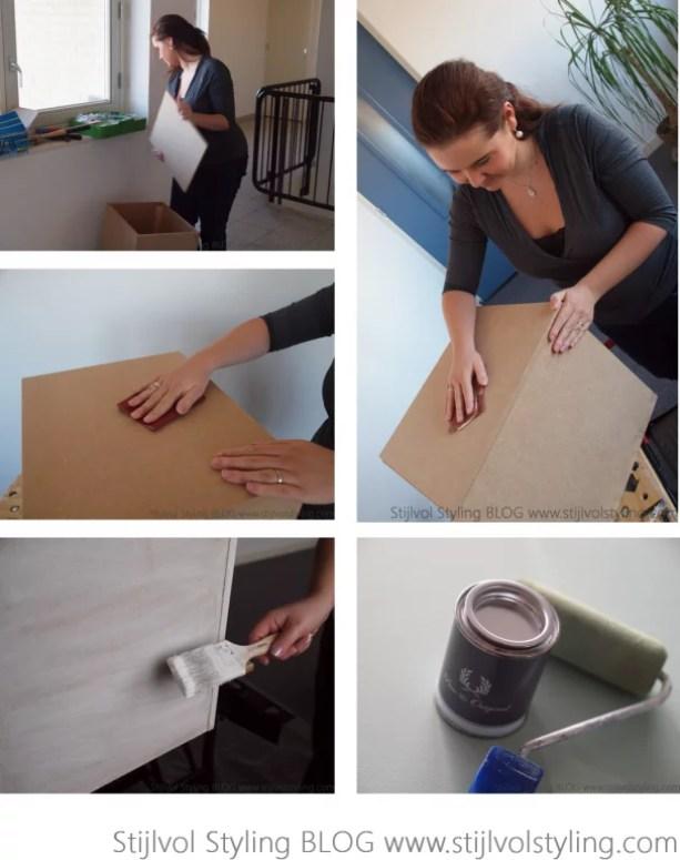 DIY | Stijlvolle & multifunctionele opberg kist / krat maken #pure #orginal #kalkverf #krijtverf #krat #doe-het-zelf #DIY #DHZ - www.stijlvolstyling.com Woonblog