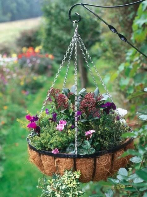 Buitenleven | Tuin tips / ideeën voor een mooie 'hanging basket' (hangmand)