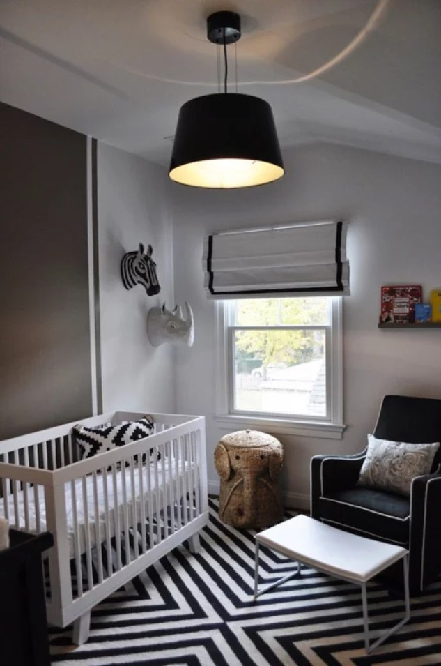 Interieur & kids   Zwart + Wit babykamer en kinderkamer