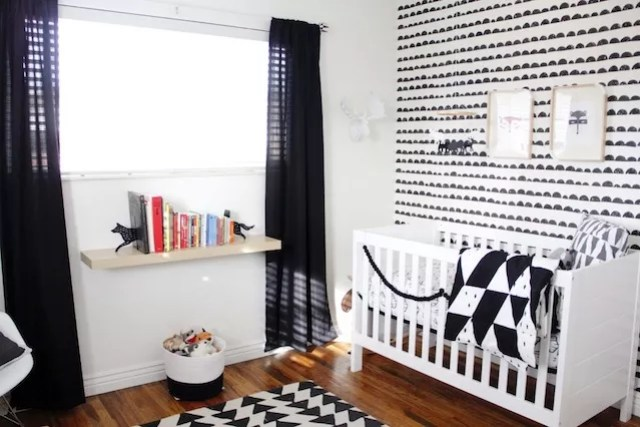 Interieur & kids | Zwart + Wit babykamer en kinderkamer • Stijlvol ...