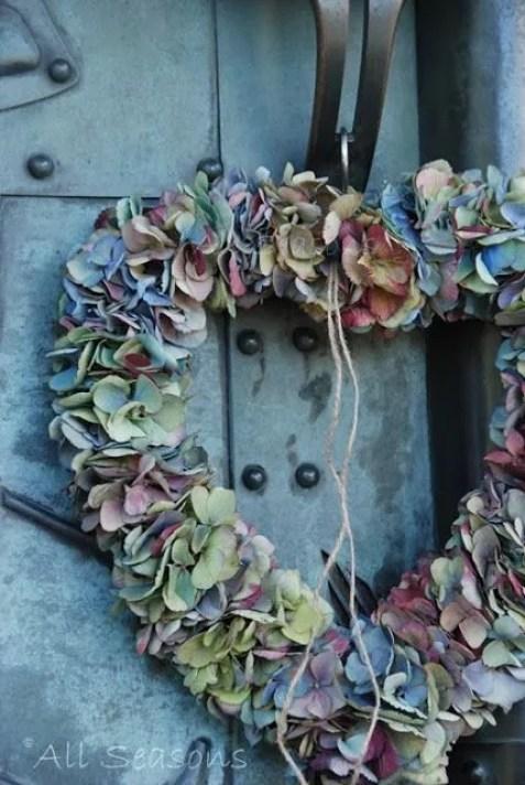 Hortensia Krans - Hydrangea Wreath #bloemenkrans #DIY