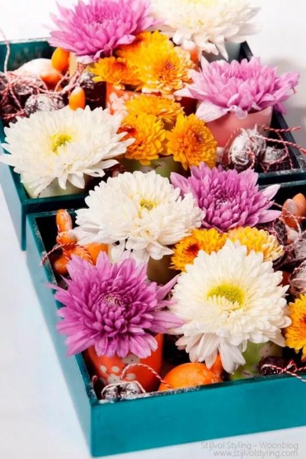 Wonen & seizoenen | Herfst inspiratie & decoratie met Chrysanten #woonblog - www.stijlvolstyling.com