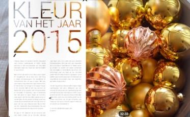 Stijlvol Styling in Showhome kerstspecial magazine - kerst en koper 2015