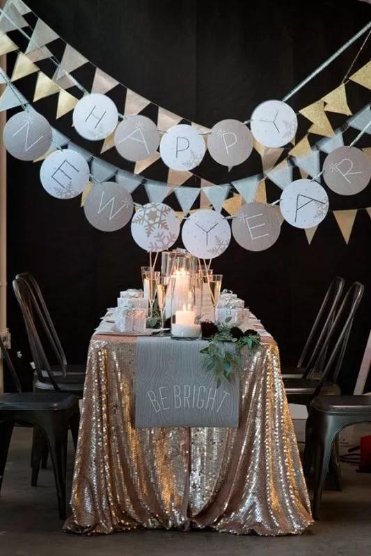 Oud en Nieuw feest decoratie - beeld: ruffledblog