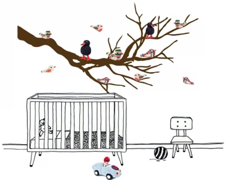 Interieur & kids | De leukste muurstickers voor de babykamer - #woonblog Stijlvol Styling www.stijlvolstyling.com
