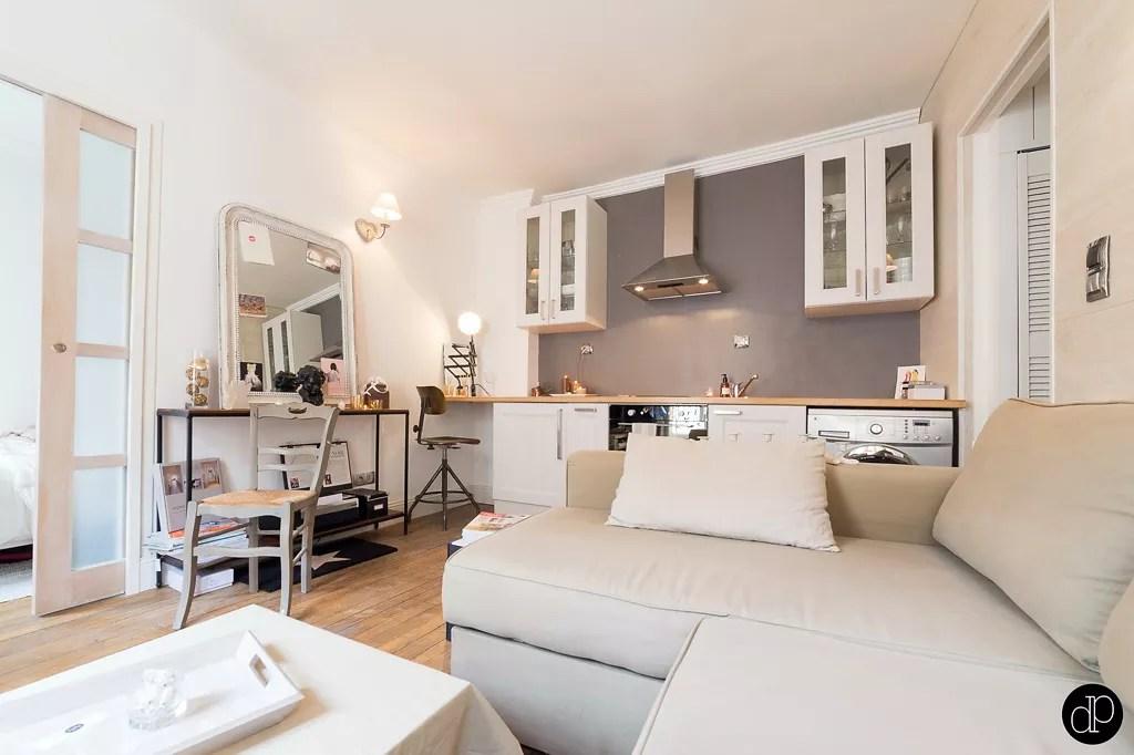 Binnenkijken klein wonen op 25m2 in parijs stijlvol - Decoration studio 25m2 ...
