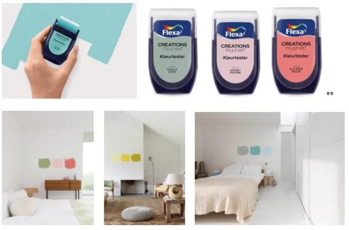Woonnieuws | Handige kleurtesters van Flexa - Woonblog StijlvolStyling.com