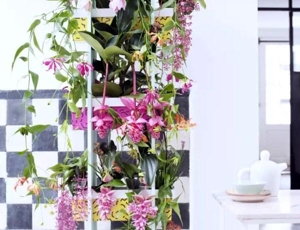 DIY | Maak zelf een stellage vol tropische planten - Woonblog StijlvolStyling.com