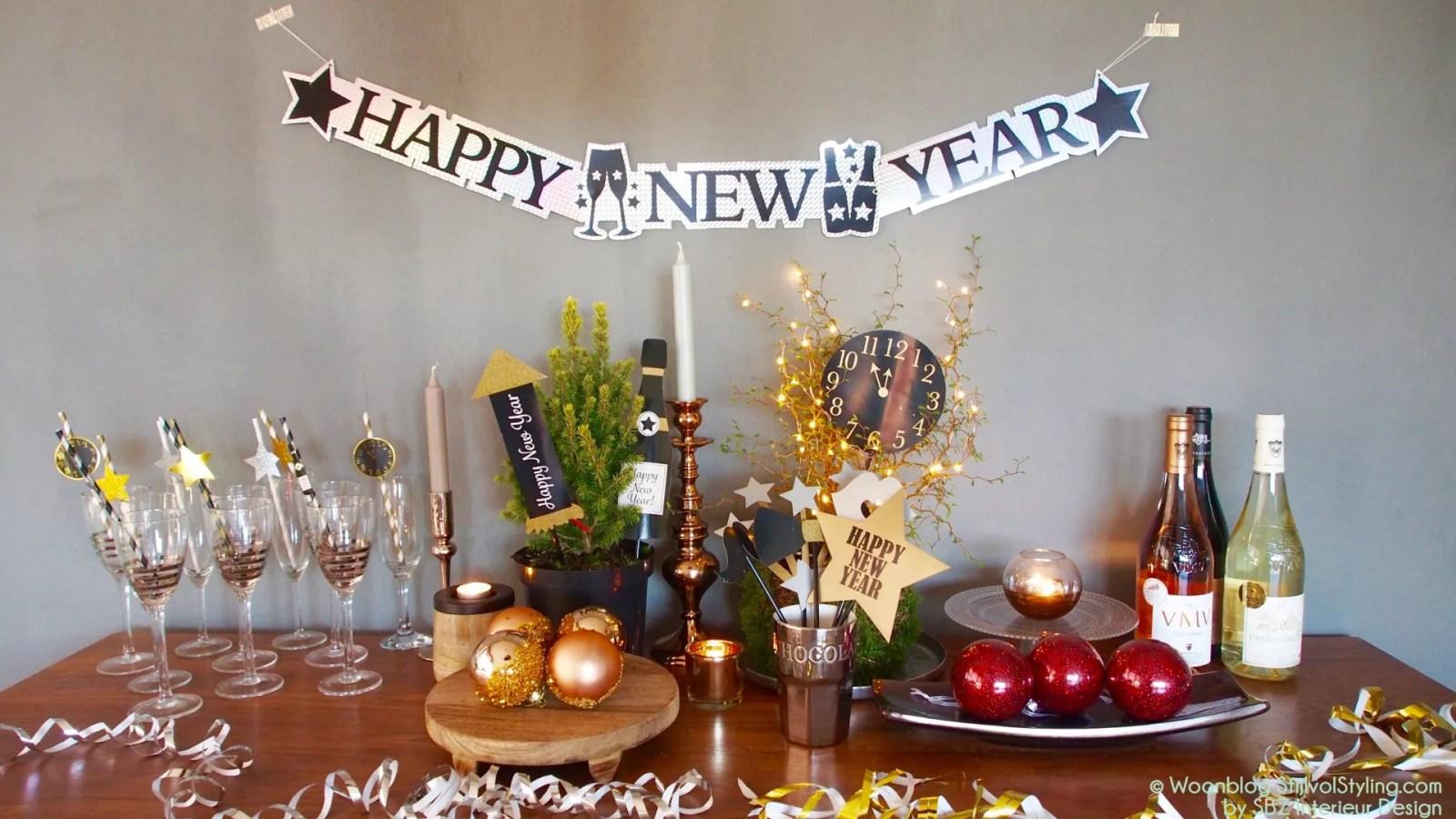 Feest styling | Oud & Nieuw feest styling tips voor thuisblijvers - Woonblog StijlvolStyling.com