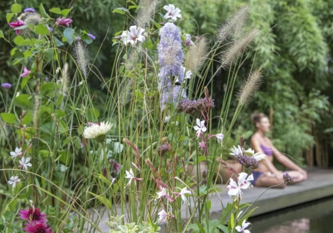 Tuin inspiratie | Relax! Yoga in de tuin met Yogaplanten - Woonblog StijlvolStyling.com