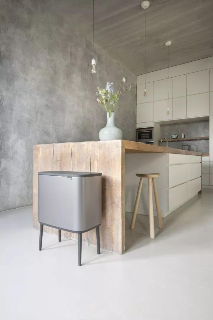 Keuken inspiratie | Bo Touch Bin; een nieuwe kijk op afval - beeld: Brabantia - blog: StijlvolStyling.com