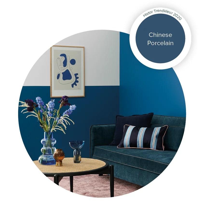 Woontrends 2020 | Chinese Porcelain = Histor Kleur van het Jaar 2020 - Beeld: Histor / PPG
