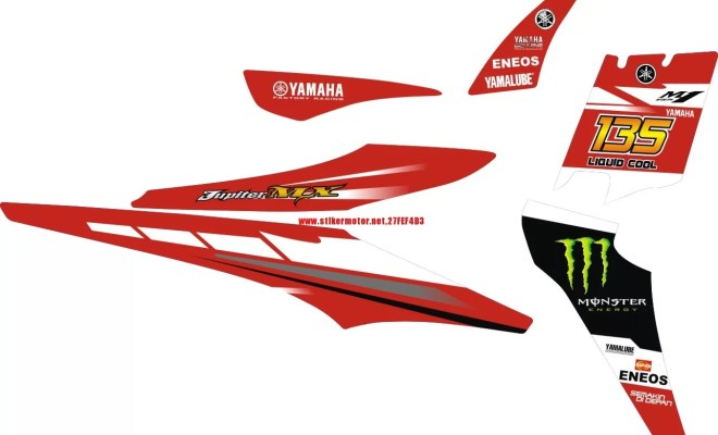 STIKER STRIPING MOTOR YAMAHA JUPITER MX MOVISTAR 2