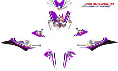 striping motor honda beat pop esp donal & daisy duck