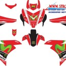 striping motor YAMAHA MX KING movistar merah