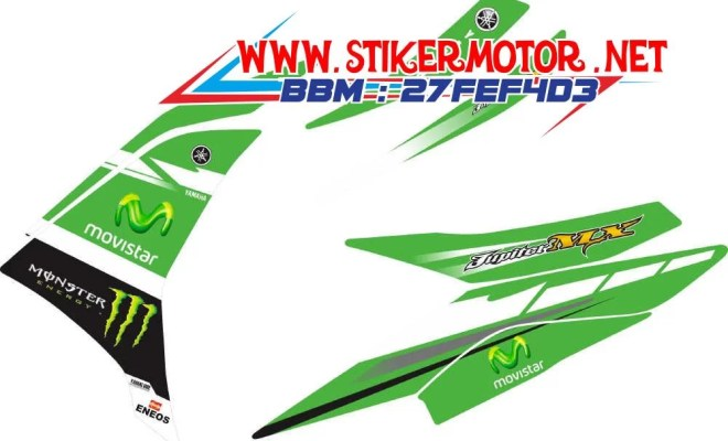 striping motor new mx movistar green