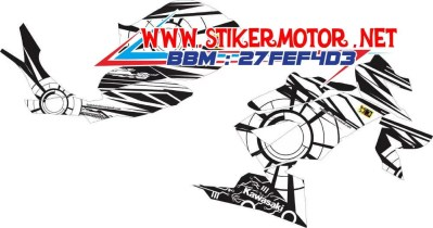 striping motor ninja rr mono sun&moon