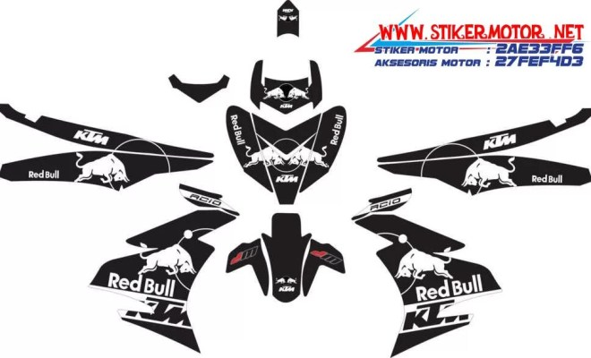 striping motor YAMAHA MX KING red bull ktm