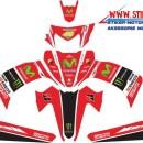 striping motor yamaha Vega ZR movistar merah