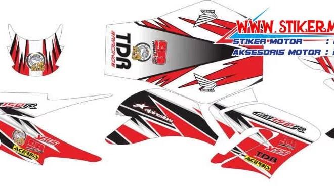 striping motor honda CB 150R racing red