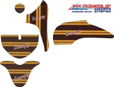 striping motor honda Scoopy batik parang