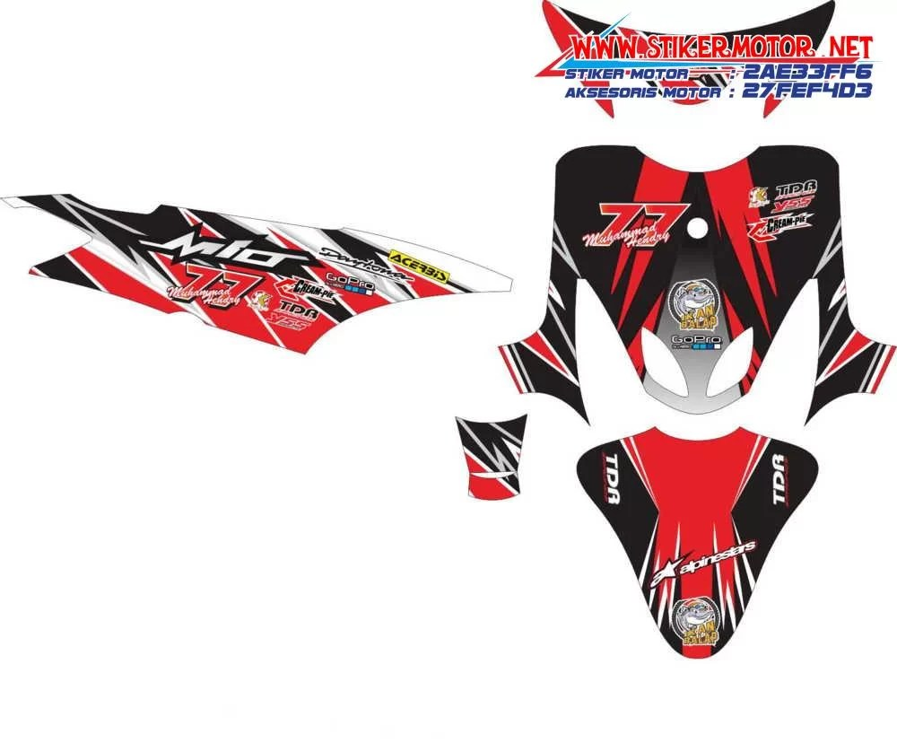 Striping motor yamaha mio sporty racing