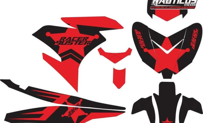 STICKER STRIPING DECAL MOTOR YAMAHA MX KING 150 racer buster red